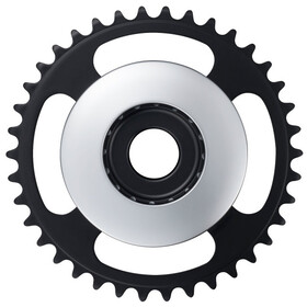 Shimano STEPS E6100 Chainring Cl:46.5mm without chain guard, silver